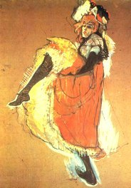 Toulouse-Lautrec, Jane Avril dancing