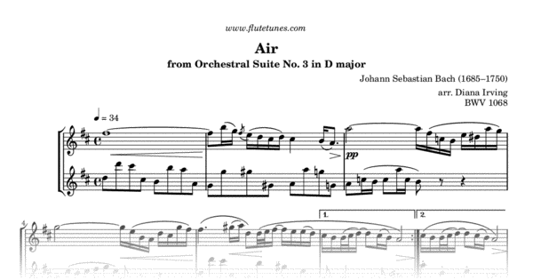 Air on the G String from Orchestral Suite No  3 in D major