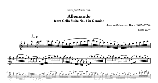 allemande from cello suite no  1 in g major  j s  bach