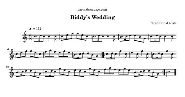 Biddys Wedding Trad Irish
