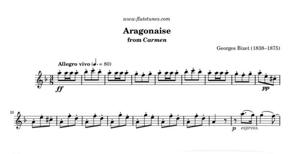 aragonaise from carmen  g  bizet