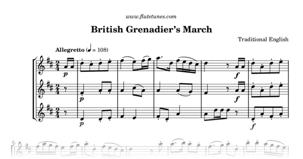 british grenadier u0026 39 s march  trad  english