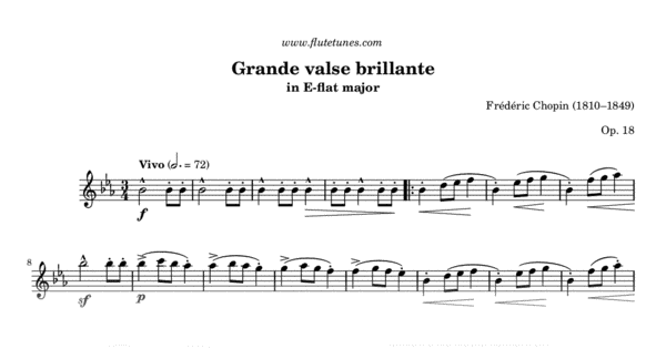 Grande valse brillante in E-flat major (F  Chopin) - Free