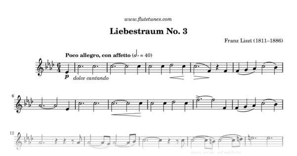 liebestraum no 3 sheet music pdf