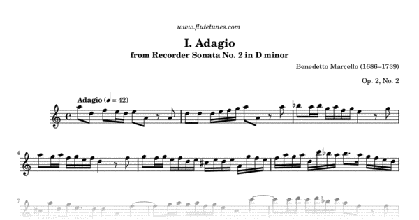 adagio in d minor sheet music pdf