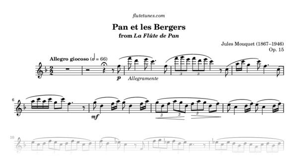 Pan et les Bergers from La Flûte de Pan (J. Mouquet ...