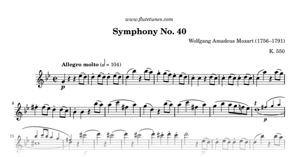 symphony no 40 in g minor 2018-7-27  symphony no 40 in g minor, kv 550 was written by wolfgang amadeus mozart in 1788 it is sometimes referred to as the great g minor symphony, to distinguish it from the little g minor symphony, no 25.