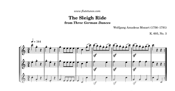 the sleigh ride from three german dances  w a  mozart