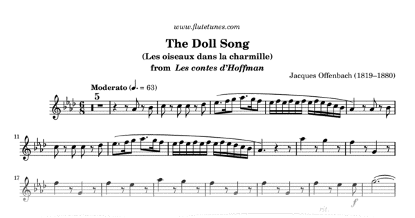 the doll song from the tales of hoffmann  j  offenbach