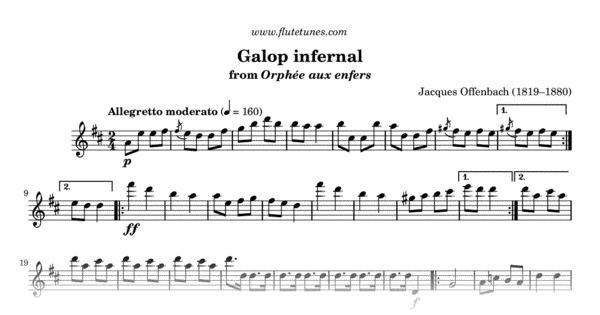 Galop infernal from Orpheus in the Underworld (J ...