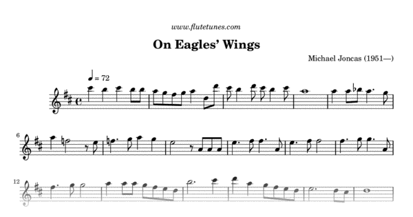 On Eagles' Wings (M  Joncas) - Free Flute Sheet Music