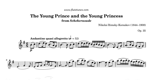 the young prince and the young princess from scheherazade