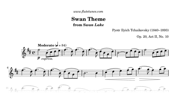 the swan piano solo pdf