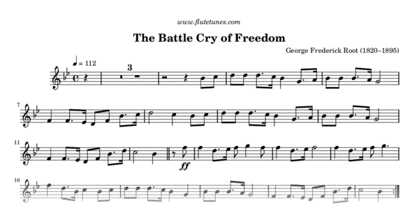 the battle cry of freedom  g f  root