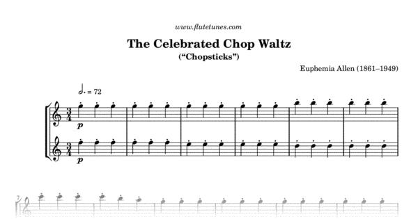 The Celebrated Chop Waltz E Allen Free Flute Sheet