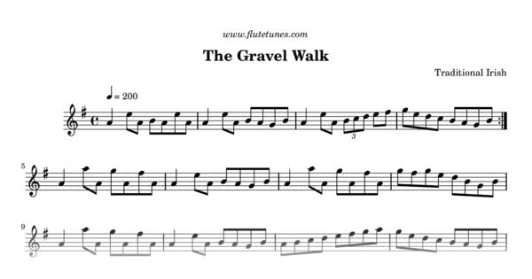 The Gravel Walk (Trad  Irish) - Free Flute Sheet Music | flutetunes com