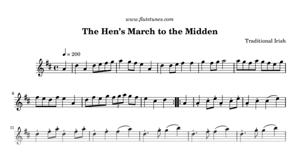 the hen u0026 39 s march to the midden  trad  irish