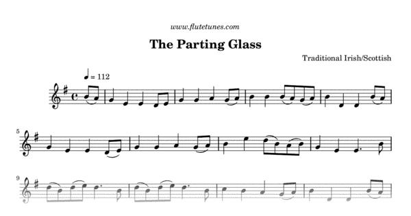 The Parting Glass Trad Irish Free Flute Sheet Music