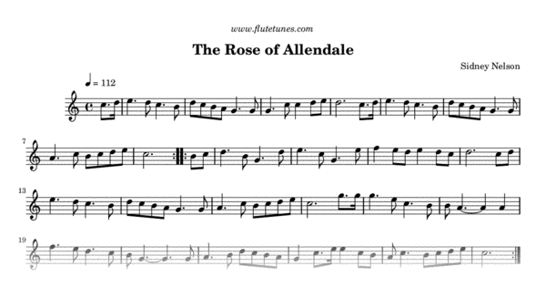 the rose of allendale  trad  english