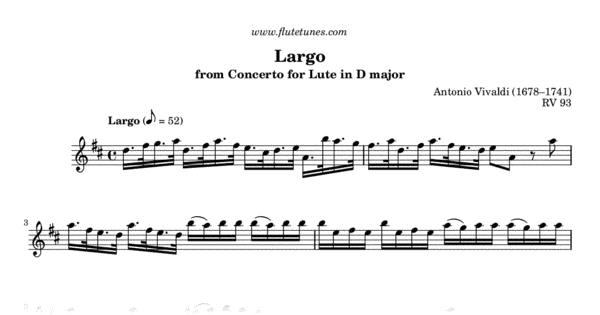 Largo from Concerto for Lute in D major (A  Vivaldi) - Free