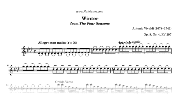 winter allegro non molto from the four seasons a