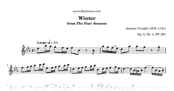 Seasons Of Largo >> Winter Largo From The Four Seasons A Vivaldi Free